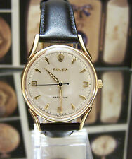 LOVELY 1958 ROLEX PRECISION ANTIQUE VINTAGE SOLID GOLD MANS WATCH SERVICED