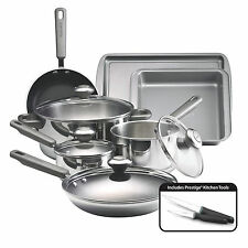 Farberware Complements Stainless Steel and Nonstick 13-Piece Cookware Set, Silv