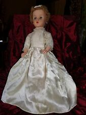 "BEAUTIFUL BRIDE 1950s doll DELUXE PREMIUM  20"" vintage Squeezable body and legs"