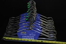 Lot Of 90 pc Heavy Duty Stainless Steel  Clothes or Coat Hangers 16""