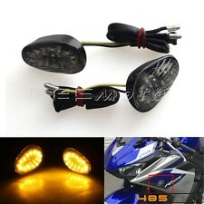 Motorcycle Flush Mount LED Running + Turn Signal Lights For Yamaha YZF R1 R6 R6S