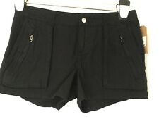 NWT CONVERSE ONE STAR BLACK LINEN CASUAL SHORTS SZ 2