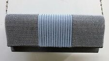 Bijoux Terner Evening Bag Purse Clutch Grey & Silver