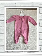Girls Babygrows Newborn -  Cute Pink Baby Grow Sleepsuit  -