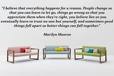 Vinyl Wall Decal Sticker Room Decor Saings Quotes Inspiring Marilyn Monroe F1995