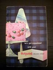Hotpoint Electric Range 1954 Vintage Instruction Recipe Manual Cookbook