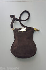 *FENDI* VINTAGE BROWN SUEDE CROSS BODY SLOUCH BAG