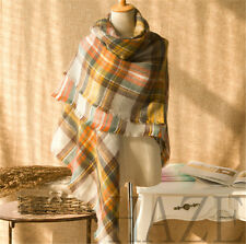 Hot sale ! Womens Scotland Cashmere wool soft Scarf Ladys Shawl plaid classics