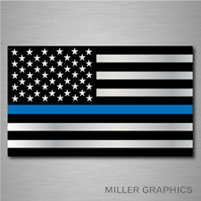 """Police Officer Thin Blue Line American Flag decal sticker graphic - 3"""" x 5"""""""