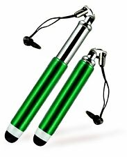 4 x Retractable Green Mini Stylus w 3.5mm anti-dust Jack for Tablets Phones