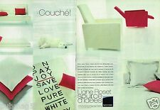 Publicité advertising 2000 (2 pages) Mobilier canapé lit Ligne Roset