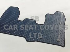 TO FIT A FORD TRANSIT CUSTOM VAN, FLAT BED, CHECKERED RUBBER MAT