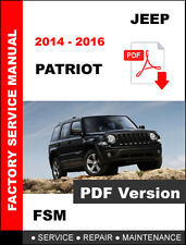 2014 2015 2016 JEEP PATRIOT DIESEL SERVICE REPAIR WORKSHOP MAINTENANCE MANUAL