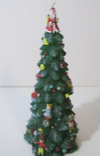"Christmas Tree Wax Candle 9"" Holiday Decoration"