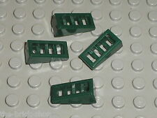 LEGO DkGreen Slope Brick Grille ref 61409 / Set 70006 9447 9455 70012 70135 9445