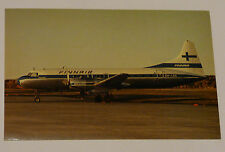 Finnair Airlines Convair 440 Airplane Aviation Postcard Finland