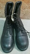 Men's Addison Black Leather Military Work Steel Toe Safety Boots Size 9 M NEW