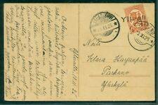 FINLAND 1925, Village cancel YLIVALLI ties 1mk to postcard, VF