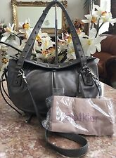 Botkier Silver Cowhide Leather Sophia Shoulder Handbag Purse & Dust bag EUC!