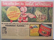 "Folger's Coffee Ad: Taster Coffee from The ""Magic Mountains"" ! from 1930's-40's"