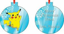 Personalized Pikachu Pokemon Ornament ( Add Any Message You Want)