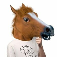 Horse Head Mask Latex Prop Animal Toys Novel Cosplay Costume Party Halloween