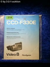 Sony Bedienungsanleitung CCD F330E Video 8 Camera Recorder (#0214)