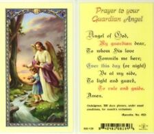 Prayer to Your Guardian Angel - Girl Holy Card