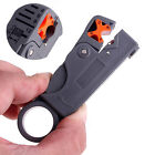 Grey Rotary Coaxial Cable Stripper Cutter Wire Stripping Tool For RG59/6/58