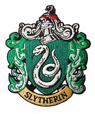 Harry Potter Slytherin fancy dress costume. Iron on badge / patch.