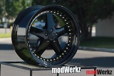 19x9.5 19x10.5 Inch +35/22 ESR SR04 5x114.3 Black Wheels Rims G35 G37 350z 370z