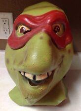 TMNT Ninja Turtles Costume  FULL HEAD RUBBER RAPHEAL MASK 1990 Mirage Studios