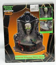 Lemax 2002 Spooky Town Halloween Haunted Skull Fountain ~ Retired ~ Rare UNUSED