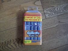 GILLETTE FUSION VALUE PACK 10 BLADES.......BRAND NEW & SEALED
