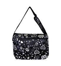 Peace silver black large messenger/backpack School bag knapsack $24.99 retail