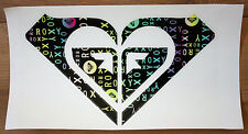 "New ROXY MULTICOLOR unique STICKER - Heart Shaped - 11"" wide - Free US Shipping"