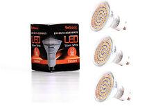3X GU10 LED Lampe von Seitronic mit 3,5 Watt, 300LM und 60 LEDs Warm weiß 2900K