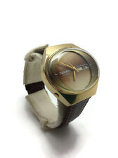 ORIGINAL! USSR Soviet Gold plated AU10 men's watch Poljot STADIUM Super!