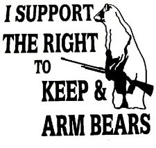 Support Bear Arms Decal  Window sticker Car RV Hunting ATV  Outdoor Vinyl Decal