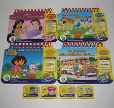 Mon Premiere LeapPad FRENCH Books Cartridges Leap Frog Dora Disney Flop Koa LOT