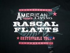NWT American Living Rascal Flatts Unstoppable Tour 2009 Black Graphic T Shirt L