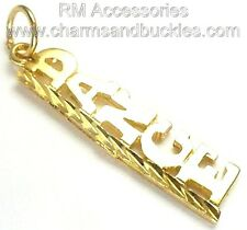 Dance Word Charm / Pendant EP 24k Gold Plated with a Lifetime Guarantee!