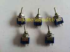 100pcs 3-Pin SPDT ON-OFF-ON Toggle Switch 6A 125VAC