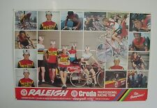 "20"" x 30"" RALEIGH Team CREDA 1980 Poster Reynolds 753-CAMPAGNOLO NOS"