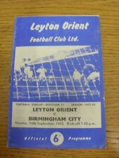 13/09/1965 Leyton Orient v Birmingham City  (Creased). Trusted sellers on ebay b