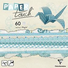Clairefontaine Paper Touch Blue Floral Origami Pack, Multi-Colour, 15x15 cm