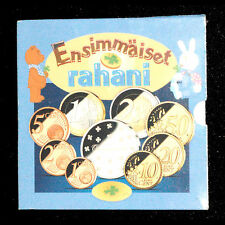 COFFRET FDC EURO FINLANDE 2004 NAISSANCE RAHANI  8 PIECES + MEDAILLE