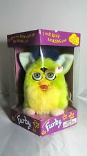 Vintage Furby Green & Yellow Fur with Green Eyes 1999 70-800 NEW in BOX
