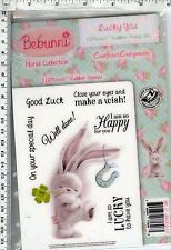 Lucky you #6646 Bebunni by Crafter's Comp rubber cling stamps   bunny