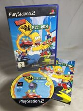 THE SIMPSONS HIT & RUN - PLAYSTATION 2 GAME - COMPLETE PAL - FREE POST -
